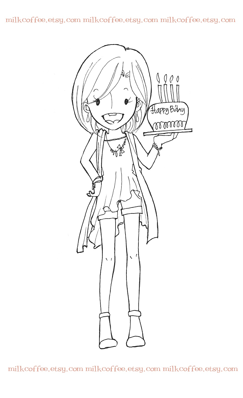 Free coloring pages of happy birthday nana