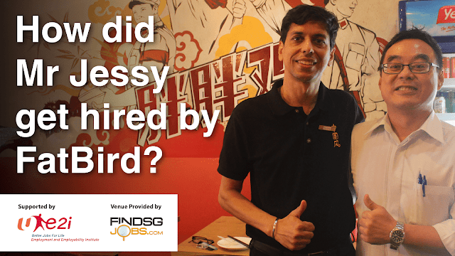 How did Jessy got hired by Fat Bird Restaurant?