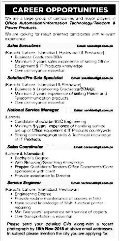 jobandvisaguide com: Latest jobs in Karachi Pakistan 2018