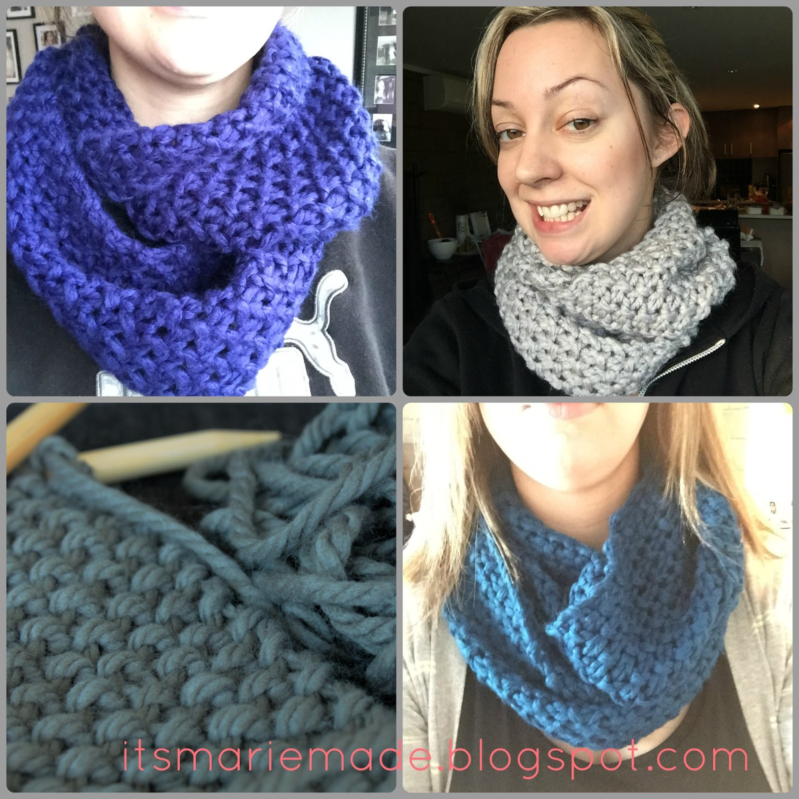 21d5aea561a3 It s Marie Made!  Finished Projects  Chunky Moss Stitch Cowl + Pattern