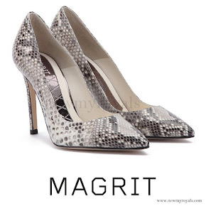 Queen Letizia wore MAGRIT Snake Printed Pumps