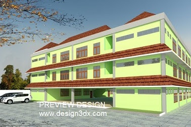 Jasa gambar online desain bangunan aula sekolah berpengalaman
