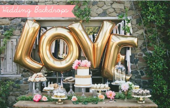 Dessert table backdrops, palloncini matrimonio, wedding balloons