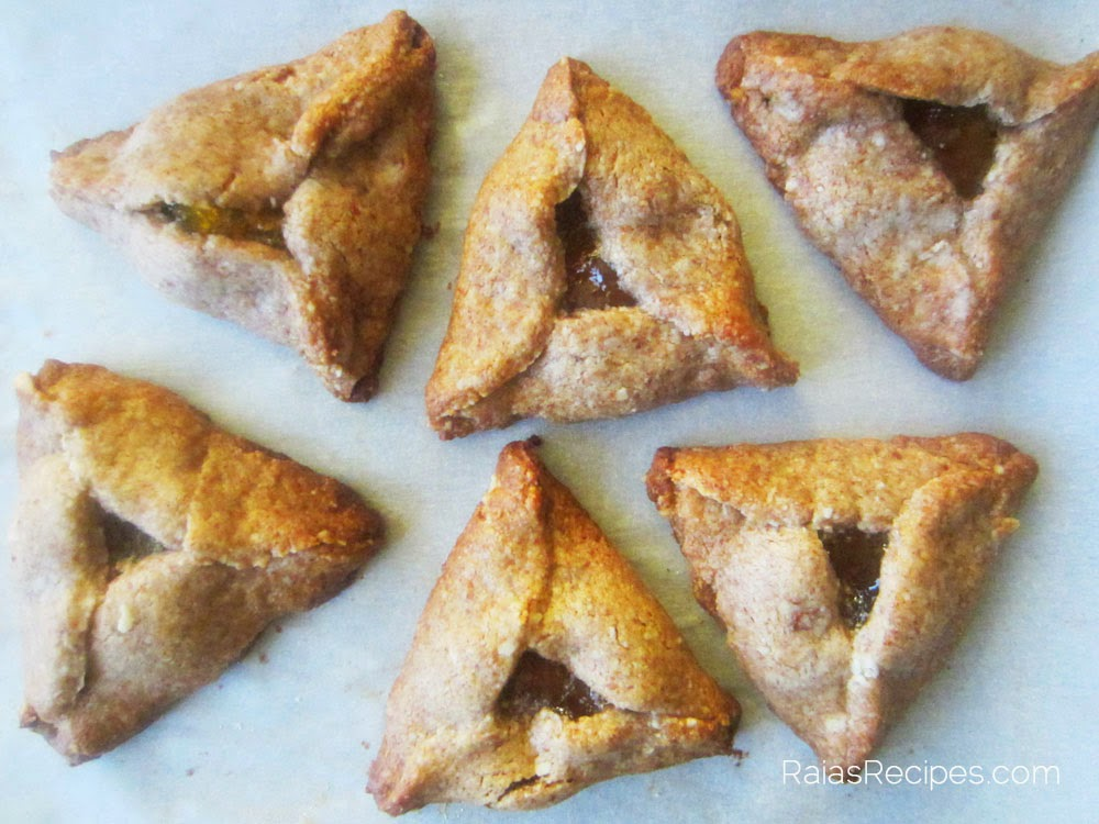 Cinnamon Apricot Hamantaschen | Free of grain, gluten, eggs, dairy & refined sugar | www.RaiasRecipes.com