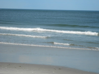 Atlantic Ocean and beach in Wildwood New Jersey