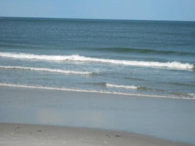Atlantic Ocean and beach in Wildwood New Jersey