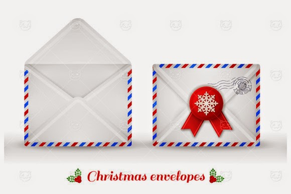 Christmas envelopes design