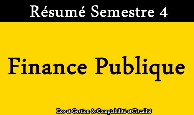 Résumé Finance Publique S4