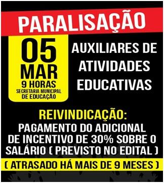 CMEIs e Escolas Municipais de Goiânia vão parar na segunda-feira
