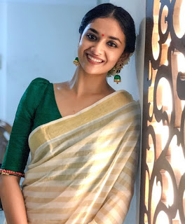 Keerthy Suresh in Saree with Cute and Awesome Lovely Smile 4