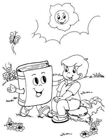 libro animado dibujo para colorear