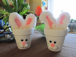 Terra Cotta Bunny Pots for Easter