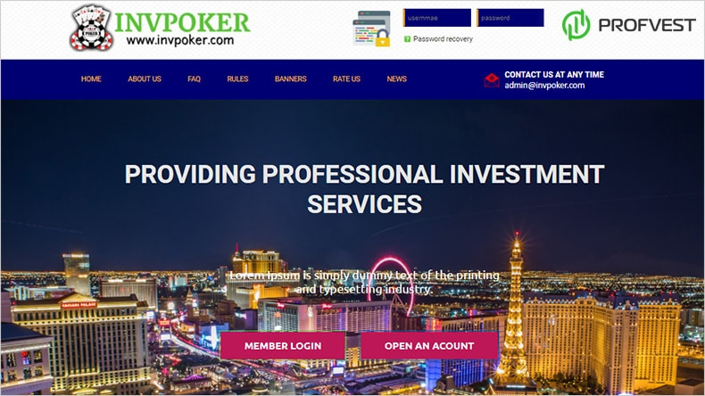 INVPoker обзор и отзывы HYIP-проекта