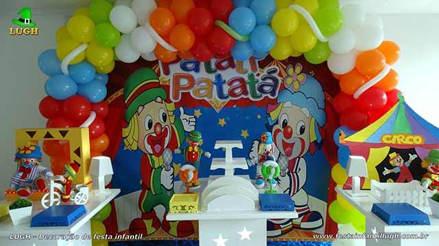 Decoração de festa Patatí Patatá - Ornamentação de aniversário em mesa provençal