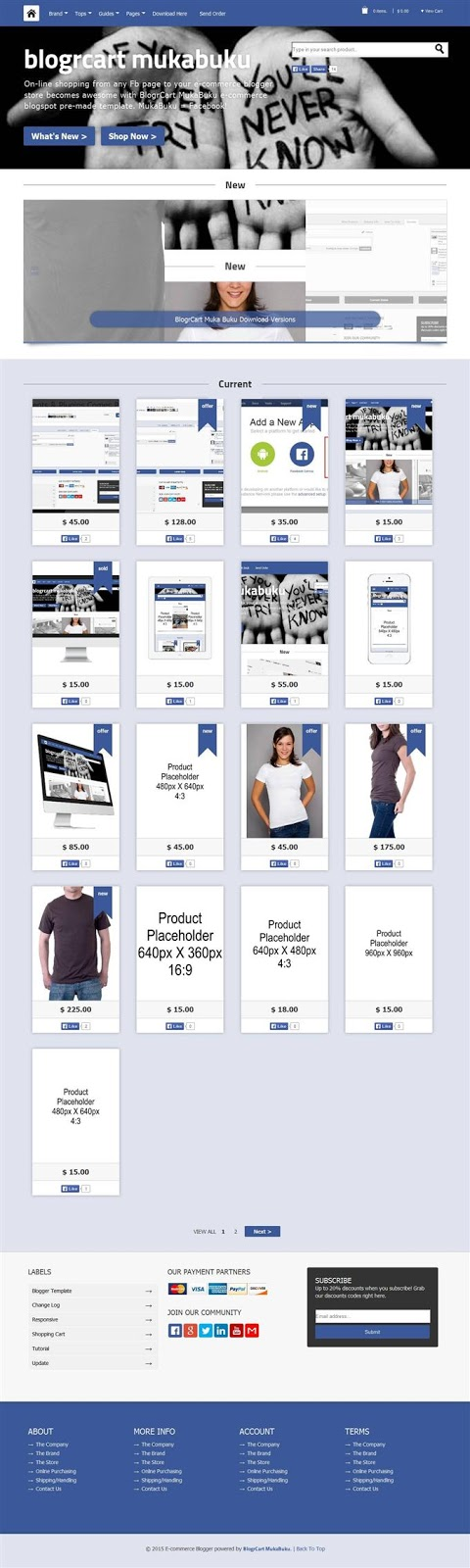 mukabuku blogger ecommerce template