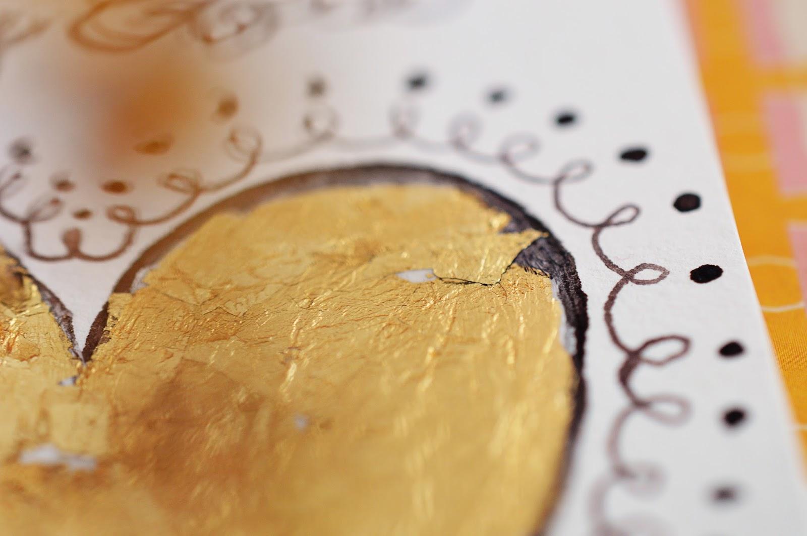 DIY Warhol-Inspired Gold Leaf Painting | Motte's Blog