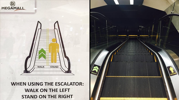 "SM malls launch ""escalator etiquette"" campaign"