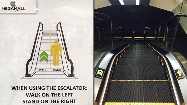"""SM malls launch """"escalator etiquette"""" campaign"""