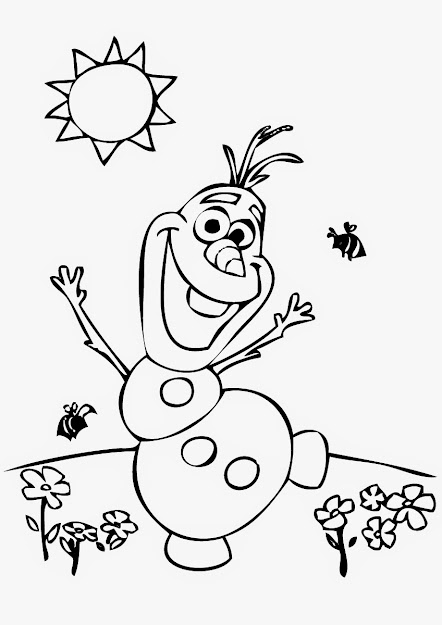 Olaf Coloring Page Images