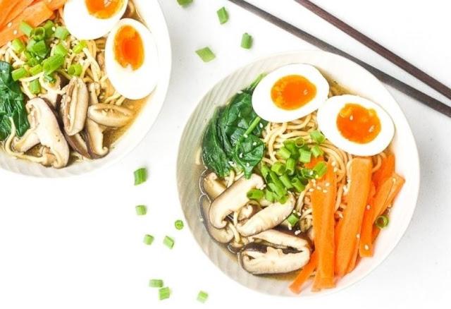 Quick And Easy Vegetarian Ramen #noodle #vegan