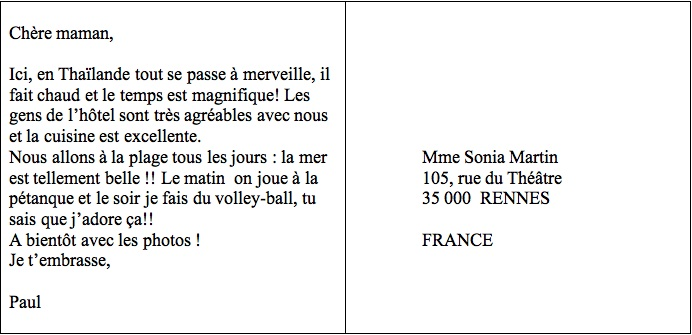 Le français, c'est facile: Une carte postale