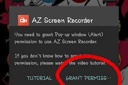 Cara untuk Setting AZ SCREEN RECORDER  di Smartphone Android