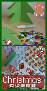 Christmas busy bag ideas for toddlers