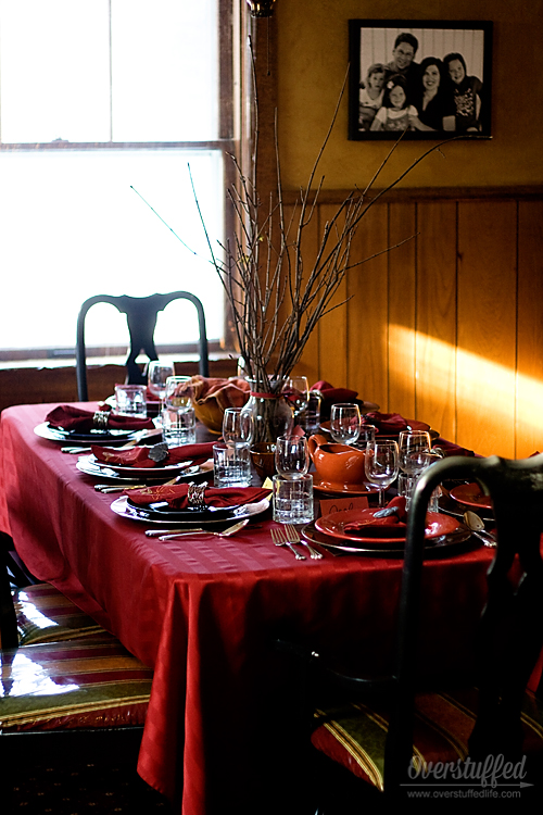 Hosting a stress-free Thanksgiving. Tip #2: Plan your table settings beforehand. #overstuffedlife