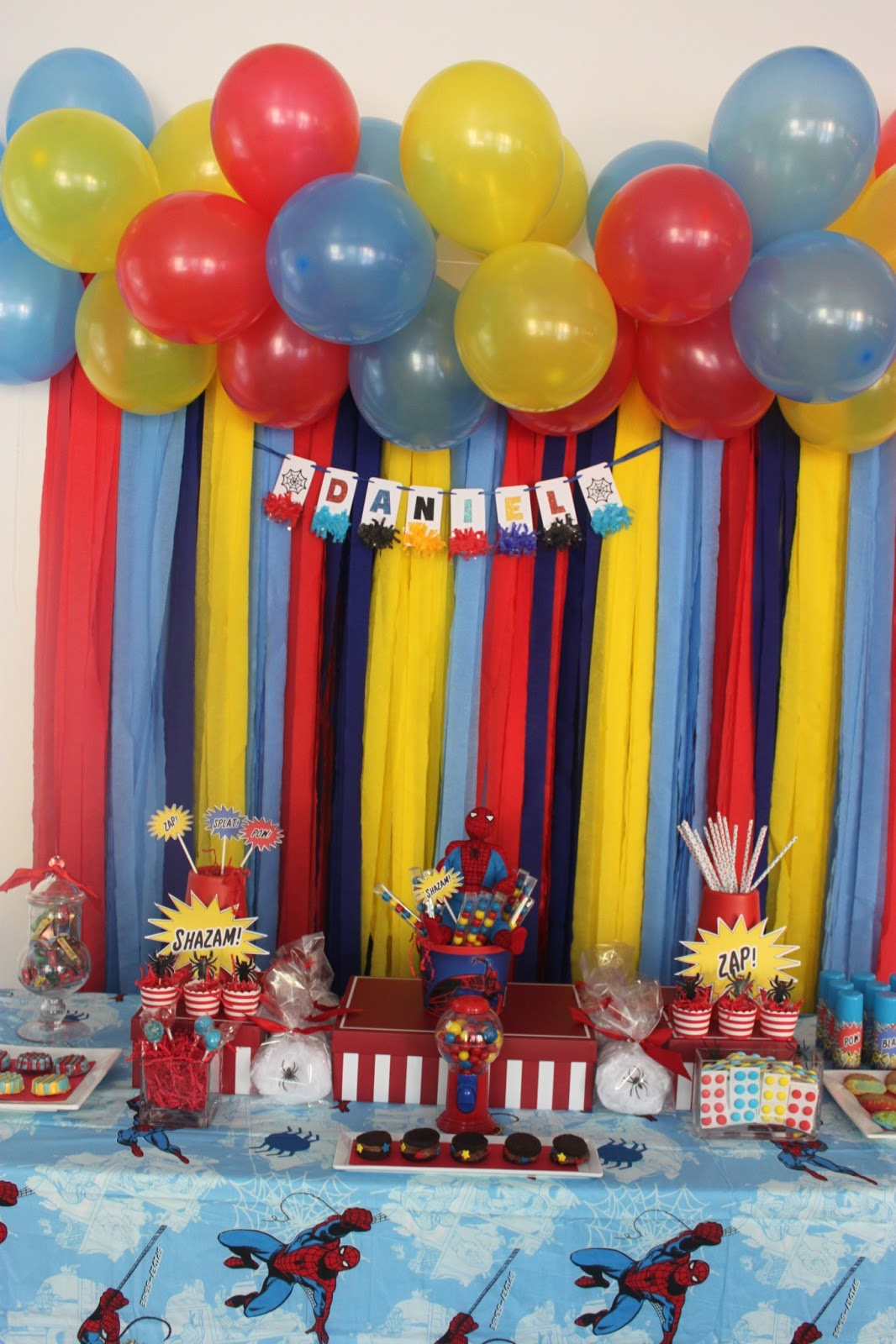 A SpiderMan Inspired 5th Birthday Party Party Ideas Party Printables