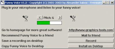 Funny Voice 1.3 , Software Pengubah Suara Lucu dan Unik