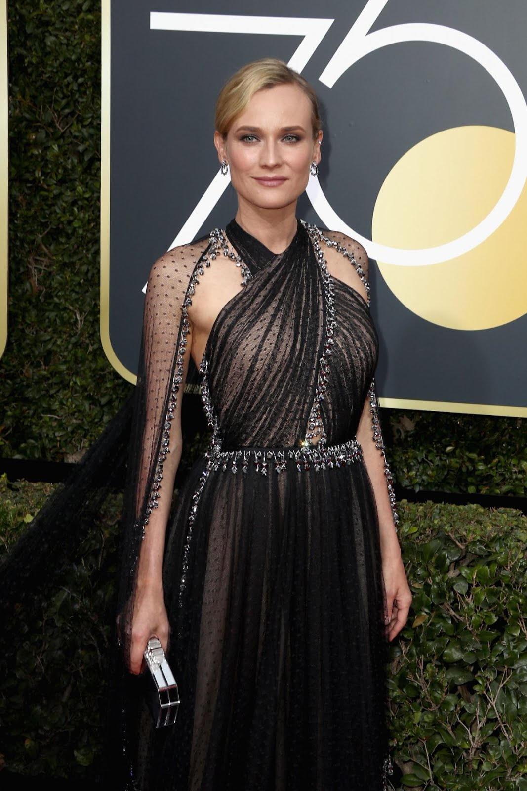 HD Wallpaper of Diane Kruger At 75Th Annual Golden Globe Awards In Beverly Hills