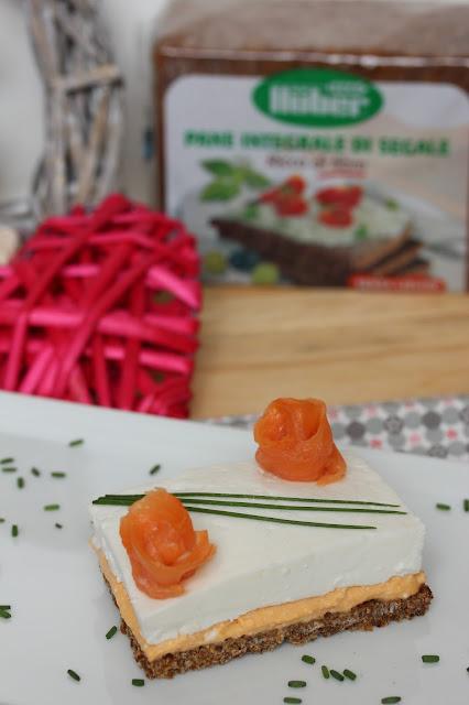 ricetta crostini al salmone doppio strato