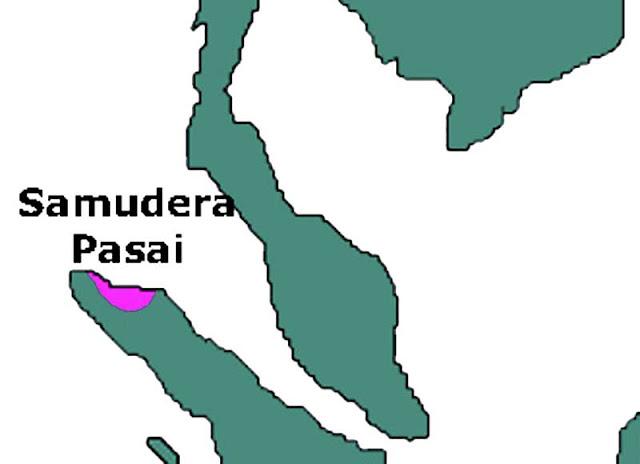 Gambar Peta daerah kekuasaan Kerajaan Samudera Pasai
