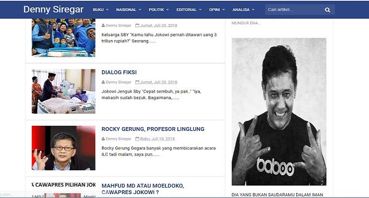 Denny Siregar, Penulis yang Aktif Membahas Sosial Politik Indonesia