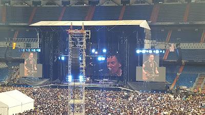 Bruce Springsteen actuaba en el Santiago Bernabéu, en Madrid