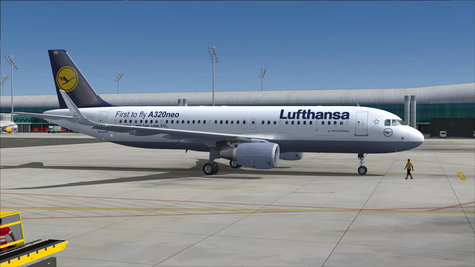 FSRepainter: PROJECT AIRBUS A320-200N Lufthansa D-AINA // D
