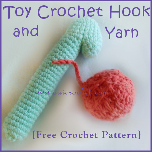 Toy Crochet Hook and Yarn