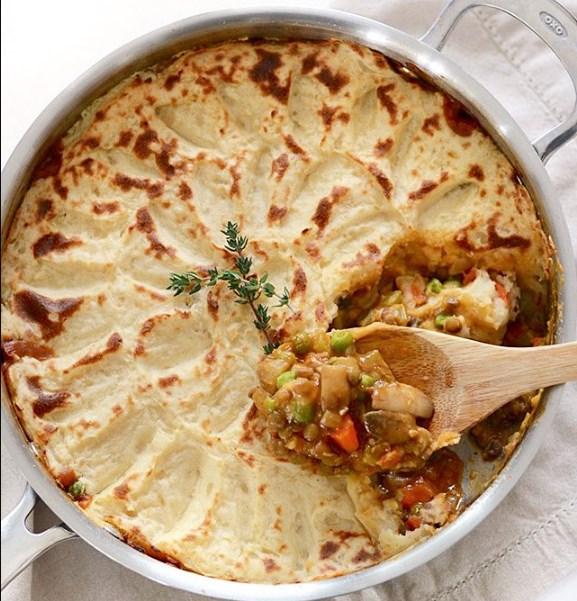 VEGETARIAN SHEPHERD'S PIE #Pie #vegetarian