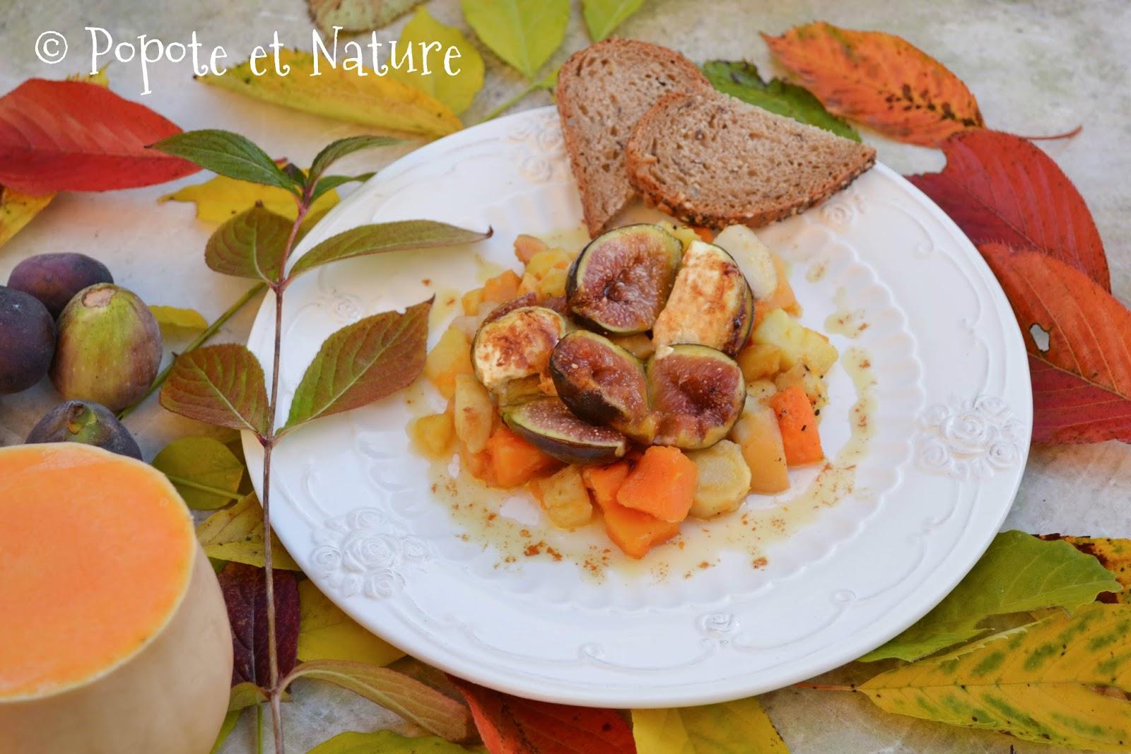 Popote et nature po l e de l gumes d 39 automne et figues r ties miel et ch vre - Figues roties au miel ...