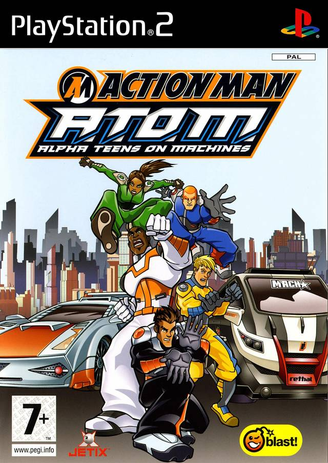 Action Man A.T.O.M Alpha Teens on Machine PAL PS2