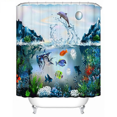 3D shower curtain images 2018