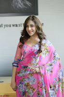 Actress Angela Krislinzki in Pink Saree Blouse Exclusive Pics March 2017 ~  111.JPG
