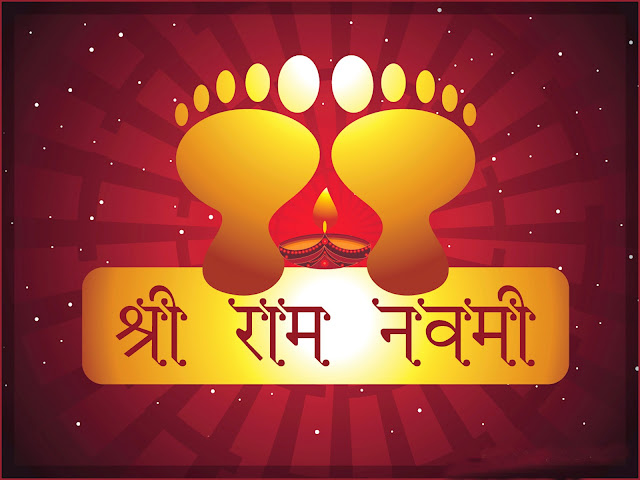 Happy Ram Navami  Wallpaper In Red Background