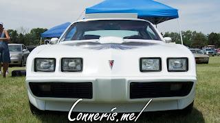 White Pontiac Trans Am Front