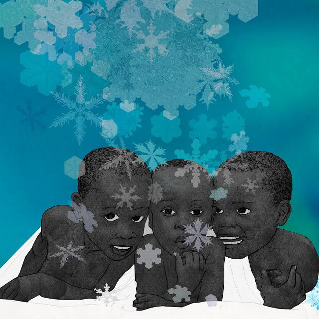 Nieve, tes niños. negros, serendipia