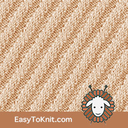 Knit Purl 30: Steep Diagonal Rib | Easy to knit #knittingstitches #knitpurl