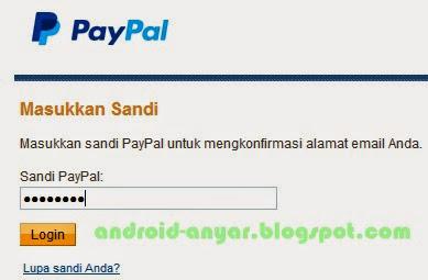 Login ke PayPal