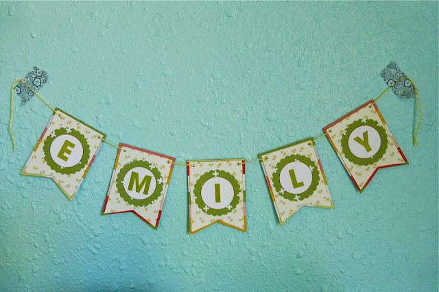 Mother's Day, Name Banner, gift idea, handmade banner, use scrapbook supplies to make banner