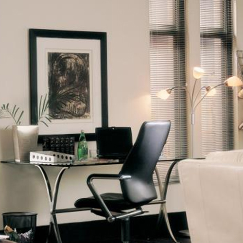 choosing the best window treatment for your basement home office
