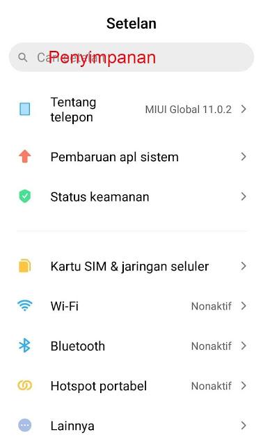 Cara mengubah kartu SD menjadi internal di Xiaomi